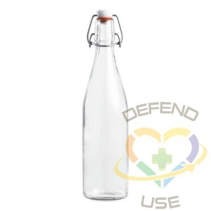 500ml French Glass Swing Top Bottle W/ Airtight Hinged Stop, 12