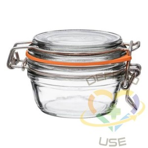 80ml Tapered French Glass Preserving Jar WAirtight Rubber, 24