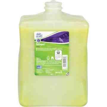 DEB, Solopol Medium Heavy-Duty Hand Cleaner, Pumice, 4 L, Plastic Cartridge, Lime, Qty/Box: 4