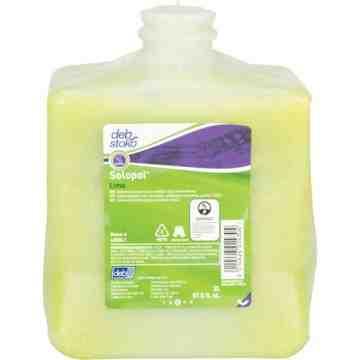 DEB, Solopol Medium Heavy-Duty Hand Cleaner, Pumice, 2 L, Plastic Cartridge, Lime, Qty/Box: 4