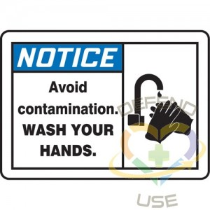 """ACCUFORM SIGNS, """"Wash Your Hands"""" Sign, 10"""" x 14"""", Vinyl, English with Pictogram, Display Type: Adhesive"""