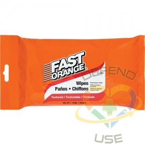 FAST ORANGE, Fast Orange CleanerWipes, Package Type: Packet, Wipes per container: 25