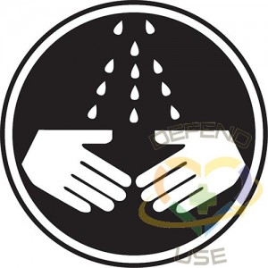 """ACCUFORM SIGNS, Wash Your Hands CSA Safety Sign, 12"""" x 12"""", Aluminum, Pictogram, Display Type: Bolt-On"""
