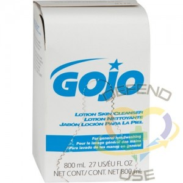 GOJO. Lotion Skin Cleanser, Cream, 800 ml, Unscented, Bag-in-Box Cartridge