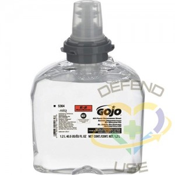 GOJO. LTX-12™ E2 Sanitizing Soap, Foam, 1.2 L, Unscented, Plastic Cartridge