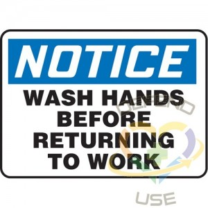 """ACCUFORM SIGNS. """"Wash Hands"""" Sign, 10"""" x 14"""", Plastic, English, Display Type: Bolt-On"""