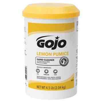 GOJO, Hand Cleaner, Pumice, 4.5 lbs., Jar/Plastic Cartridge, Lemon, Qty/Case: 6