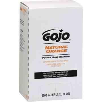 GOJO, Natural Orange™ Hand Cleaner, Pumice, 2 L, Refill, Orange/Citrus
