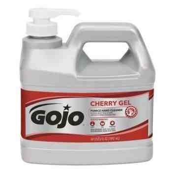 GOJO, Cherry Gel Hand Cleaner, Pumice, 1.89 L, Pump Bottle, Cherry, Qty/Case: 4