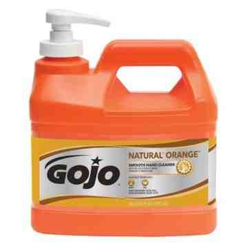 GOJO, Natural Orange™ Hand Cleaner, Cream, 1.89 L, Pump Bottle, Orange/Citrus, Qty/Case: 4