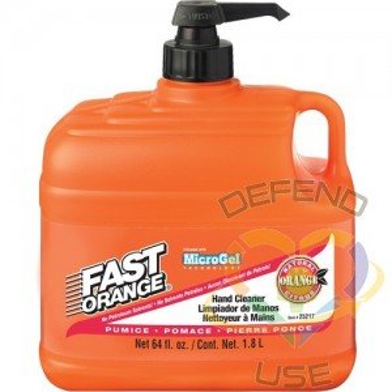 FAST ORANGE, Hand Cleaner, Pumice, 1.89 L, Pump Bottle, Orange, Type: Pumice