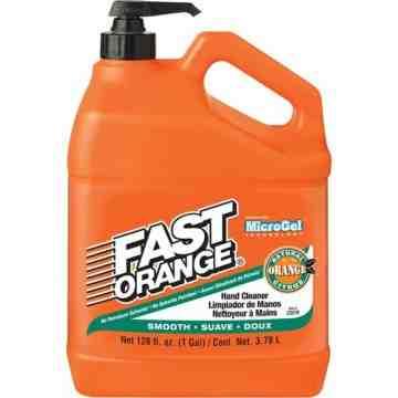 FAST ORANGE, Hand Cleaner, Pumice, 3.78 L, Pump Bottle, Orange, Type: Pumice