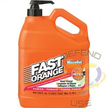 FAST ORANGE, Hand Cleaner, Pumice, 4 L, Pump Bottle, Fresh Scent,