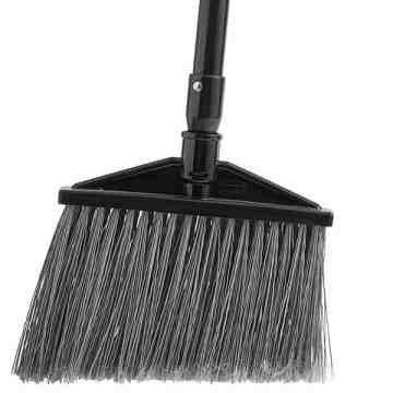 Exec Angle Broom w/Aluminum Handle -Yel/Bla [6385], 6/EA