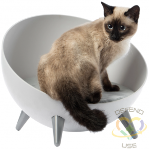 Plastic Bowl Shaped Chair Sofa Sleeping Bed Lounge for Cats - 1