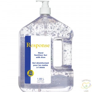 GRIME EATER 1st Response® Hand Sanitizer Gel with Aloe, 1890 ml, Pump Bottle, 70% Alcohol - 1