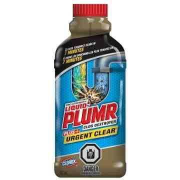 Liquid-Plumr Pro-Strength Urgent Clear Drain Opener, 502 ml, Clear/Faint Yellow, 6/502ml - 1