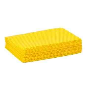 "Task Dustworks Yellow 1/4"" Fold Treated Dust Cloth, 12"" X 17"", 40/BAG, 10pk/Case, Case: 400 - 1"