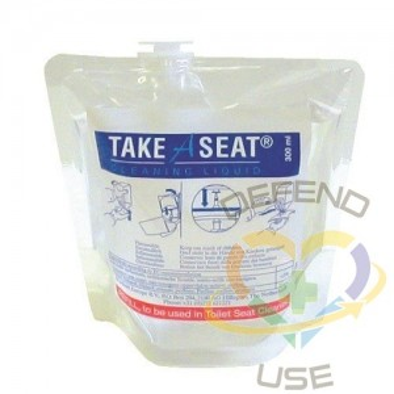 Health Gards 300 ml Pouches Toilet Seat Cleaner Sanitizer (6 Per Box) 300ml Pouch,Case: 6 - 1