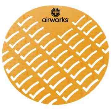 Airworks EVA Urinal Screen 10/pk - Citrus - Lt Orange,Case: 10