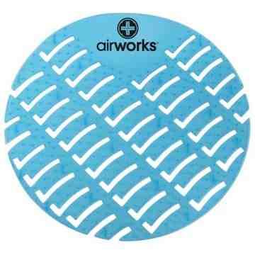 Airworks EVA Urinal Screen 10/pk - Eucalyptus - Lt Blue,Case: 10