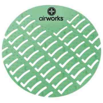 Airworks EVA Urinal Screen 10/pk - Evergreen - Dk Green,Case: 10