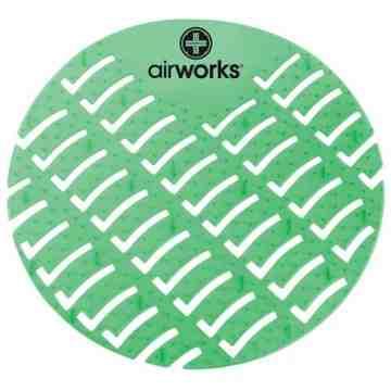 Airworks EVA Urinal Screen 10/pk - Fresh Garden - Green,Case: 10