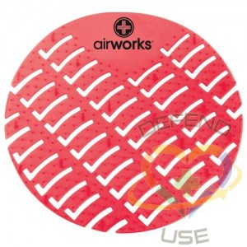 Airworks EVA Urinal Screen 10/pk - Fruit - Lt Red,Case: 10