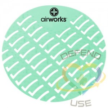 Airworks EVA Urinal Screen 10/pk - Herb Mint - Lt Green,Case: 10