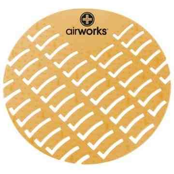 Airworks EVA Urinal Screen 10/pk - Mango - Orange,Case: 10