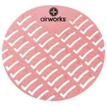 Airworks EVA Urinal Screen 10/pk - Strawberry - Red,Case: 10
