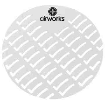 Airworks EVA Urinal Screen 10/pk - Sunburst - Clear,Case: 10