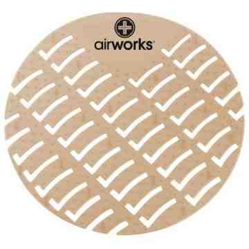 Airworks EVA Urinal Screen 10/pk - Cinnamon - Lt Brown,Case: 10