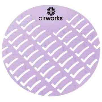 Airworks EVA Urinal Screen 10/pk - Cotton - Lt. Purple,Case: 10