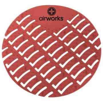 Airworks EVA Urinal Screen 10/pk - Spice - Lt Burgundy,Case: 10