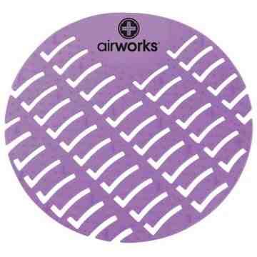 Airworks EVA Urinal Screen 10/pk - Vineyard - Purple,Case: 10