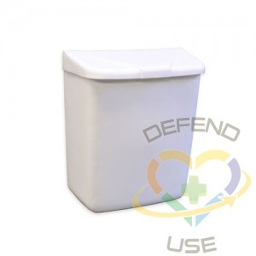 Sanitary Napkin Receptacle ABS - White,Case: 1