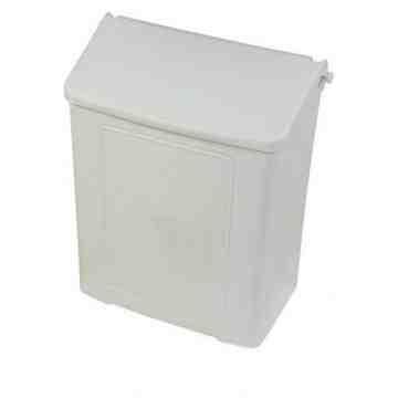 Sanitary Napkin Disposal - Plastic - White,Case: 4