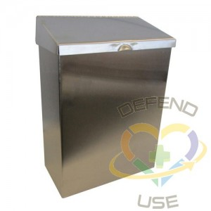 Sanitary Napkin Receptacle - Stainless Steel,Case: 1