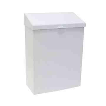 Sanitary Napkin Receptacle Metal - White,Case: 1