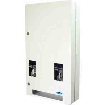 Vending Dispenser - Napkin/Tampon Combo -$0.10ct- White,Case: 1