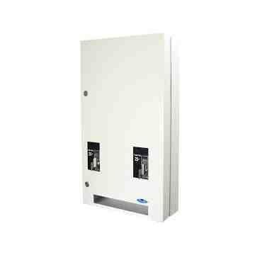 Vending Dispenser - Napkin/Tampon Combo -$1.00 - White,Case: 1