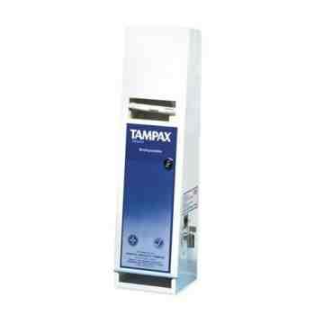 Vending Dispenser - Tampon Single - Free - White,Case: 1