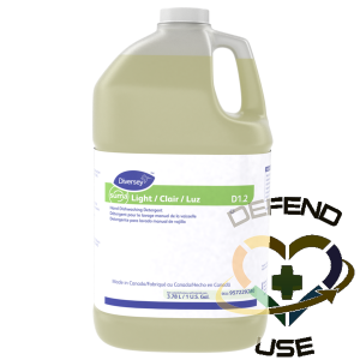 Suma Light D1.2 Hand Dishwashing Detergent, Case of 4x3.78L - 1