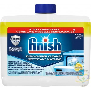Finish Dual Action Dishwasher Cleaner, Lemon, 250 ml, Fight Grease & Limescale, Case/8 - 2
