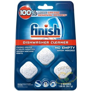 Finish In-Wash Dishwasher Cleaner: Clean Hidden Grease & Grime, 3ct, Case of 8/3ct - 1