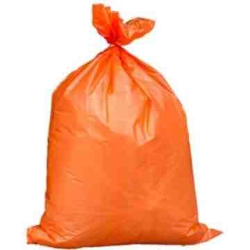 "RALSTON  Industrial Garbage Bags, 3X Strong, 35"" x 50"", 2.7 mils, 50 /Pkg., Orange - 1"