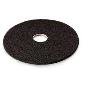 "Floor Pad - Black High Productivity Strip Pad 14"" 5/cs[F-7300-BLK-14],5/CS, Price Per Case"