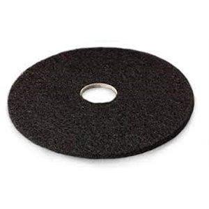 "Floor Pad - Black High Productivity Strip Pad 15"" 5/cs[F-7300-BLK-15],5/CS, Price Per Case"