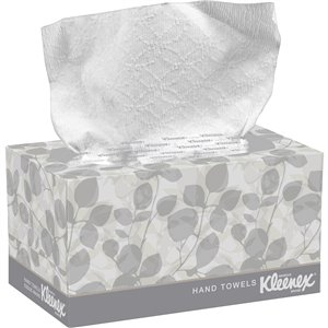 """Kleenex® Hand Towels in a POP-UP* Box, 1 Ply, 10-1/2"""" L x 9"""" W, 120/Pk, Case of 18"""